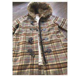 3/4 sleeve plaid jacket